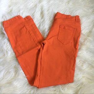 Denim - Orange Skinny Jeans